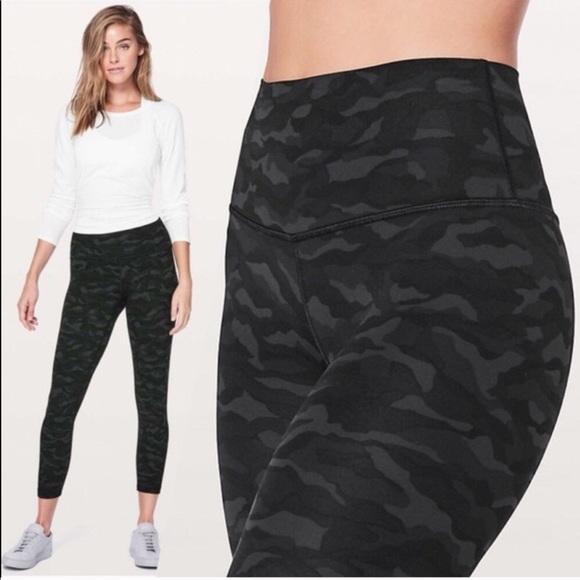 8a9a11a42c lululemon athletica Pants | Lululemon Black Camo Align Pant 27 Size ...